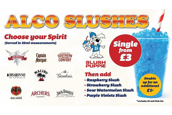 Superbowl UK ALCO SLUSHES FROM £3
