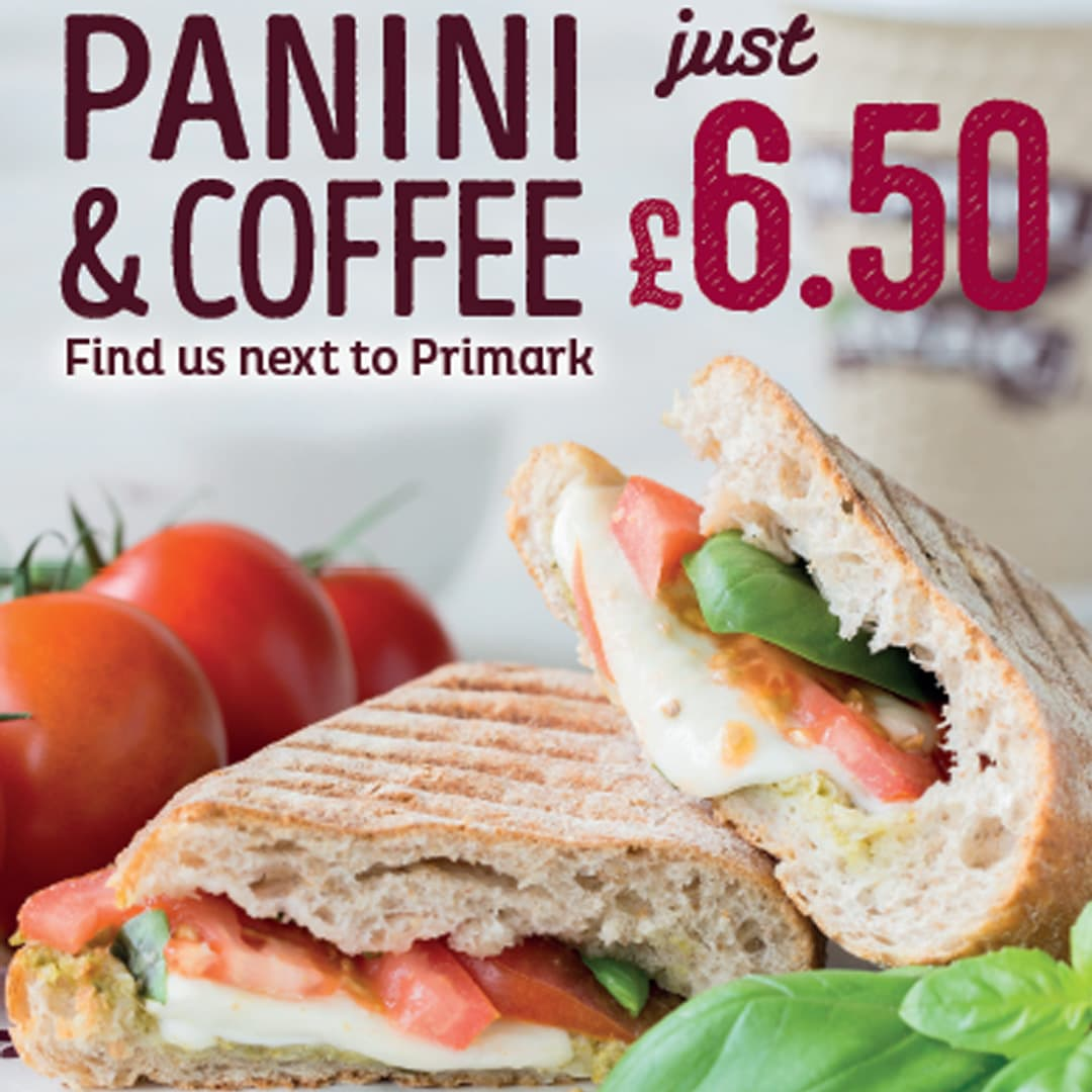 Muffin Break PANINI & COFFEE JUST £6.50
