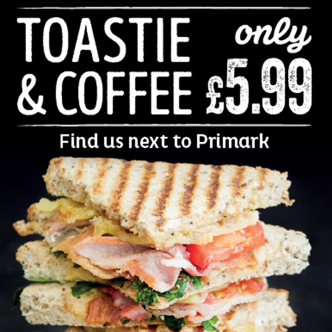 Muffin Break TOASTIE & COFFEE JUST £5.99