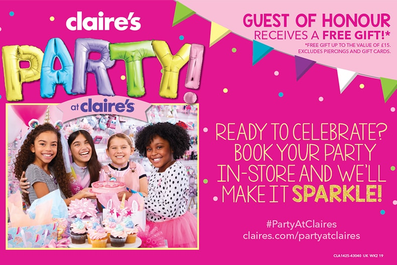 Claire's PARTY AT CLAIRE'S!