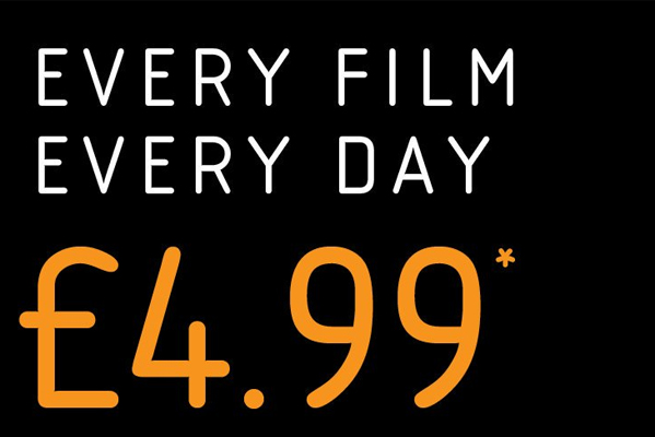 Vue Cinema EVERY FILM, EVERY DAY ONLY £4.99*