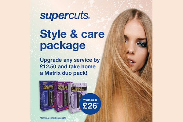 Supercuts STYLE & CARE PACKAGE WORTH £26
