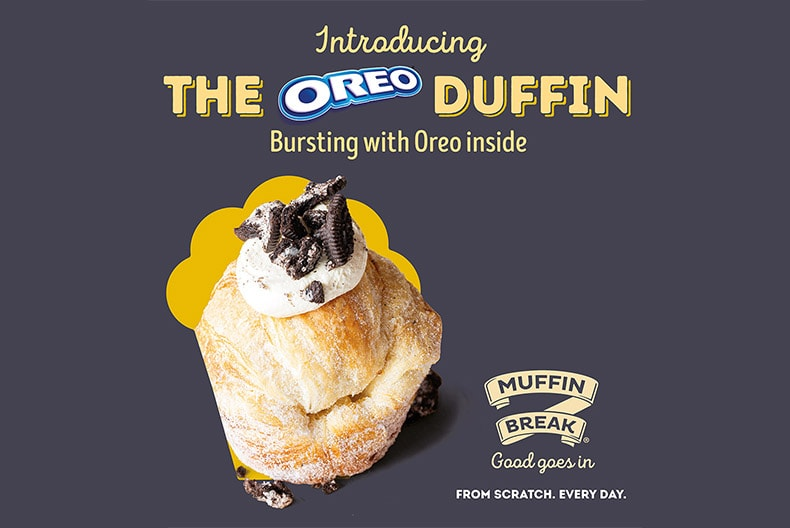 NEW OREO DUFFIN AT MUFFIN BREAK
