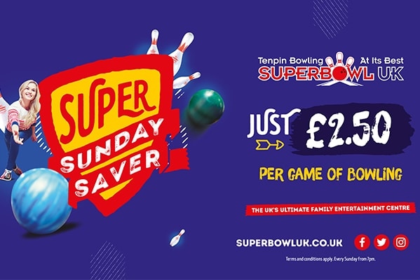 Superbowl UK SUPER SUNDAY SAVER | £2.50 PER GAME OF BOWLING