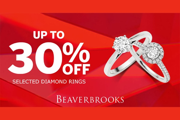 Beaverbrooks UP TO 30% OFF DIAMOND RINGS
