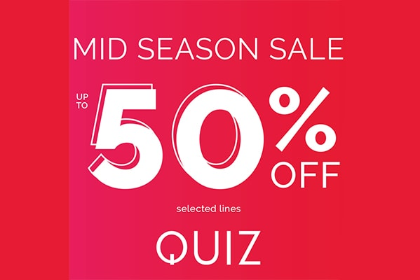 Quiz UP TO 50% OFF MID SEASON SALE